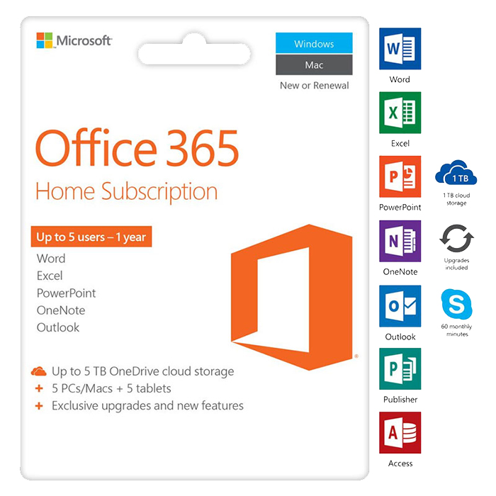 Microsoft Office 365 Home - 1 Năm